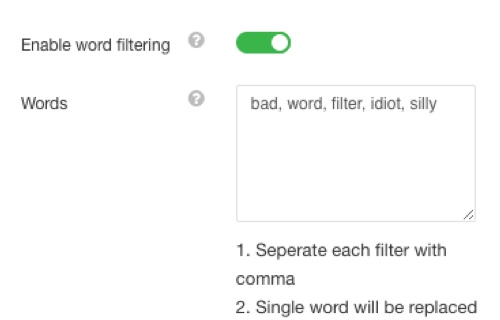 EasyDiscuss Word Filtering