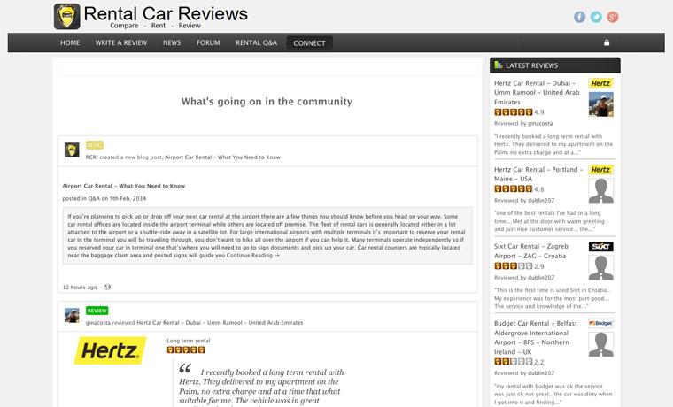 Rental Car Reviews