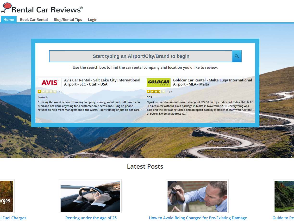 EasySocial - Rental Car Reviews