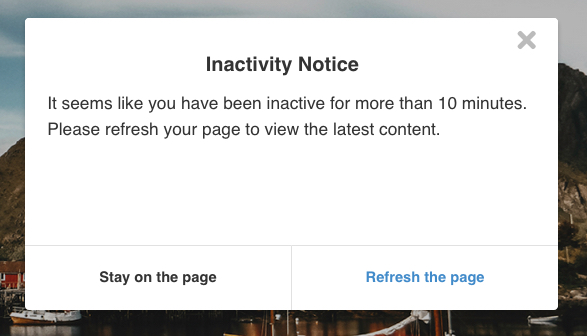 EasySocial - Page Inactivity Notice
