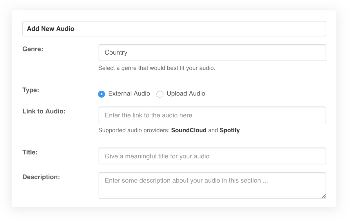 EasySocial - Audio Upload