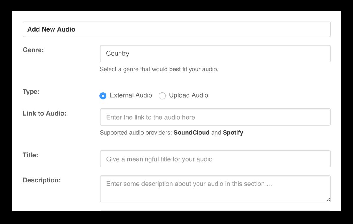 EasySocial - Audio Upload