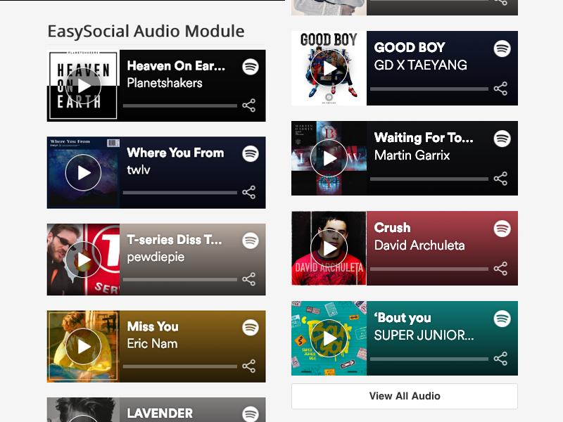 EasySocial - Audio Module