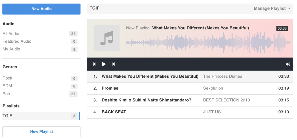 EasySocial - Audio Playlist