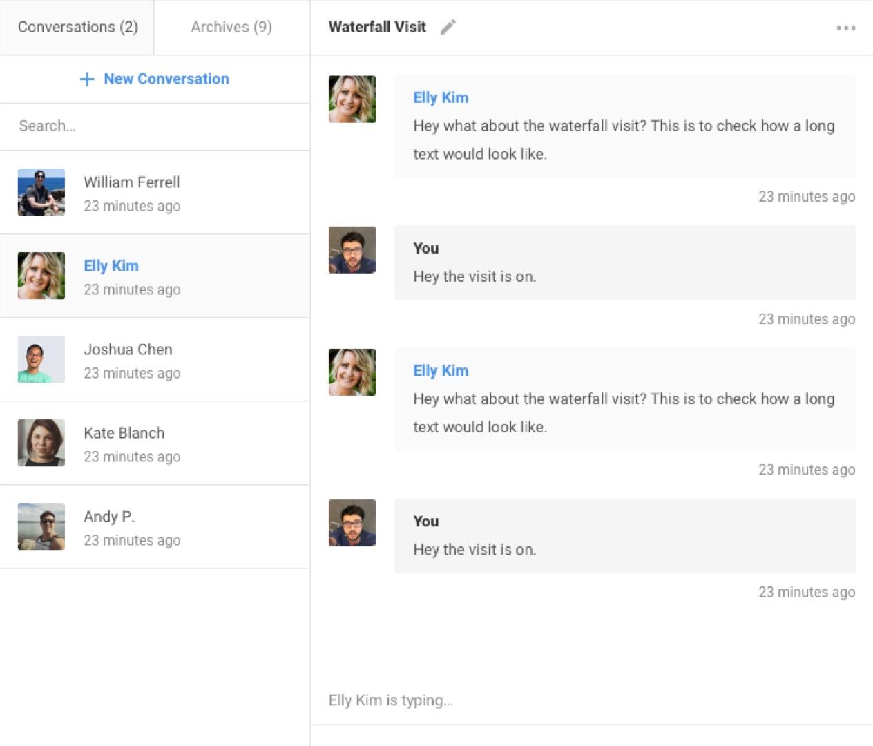 EasySocial - Conversations Intro