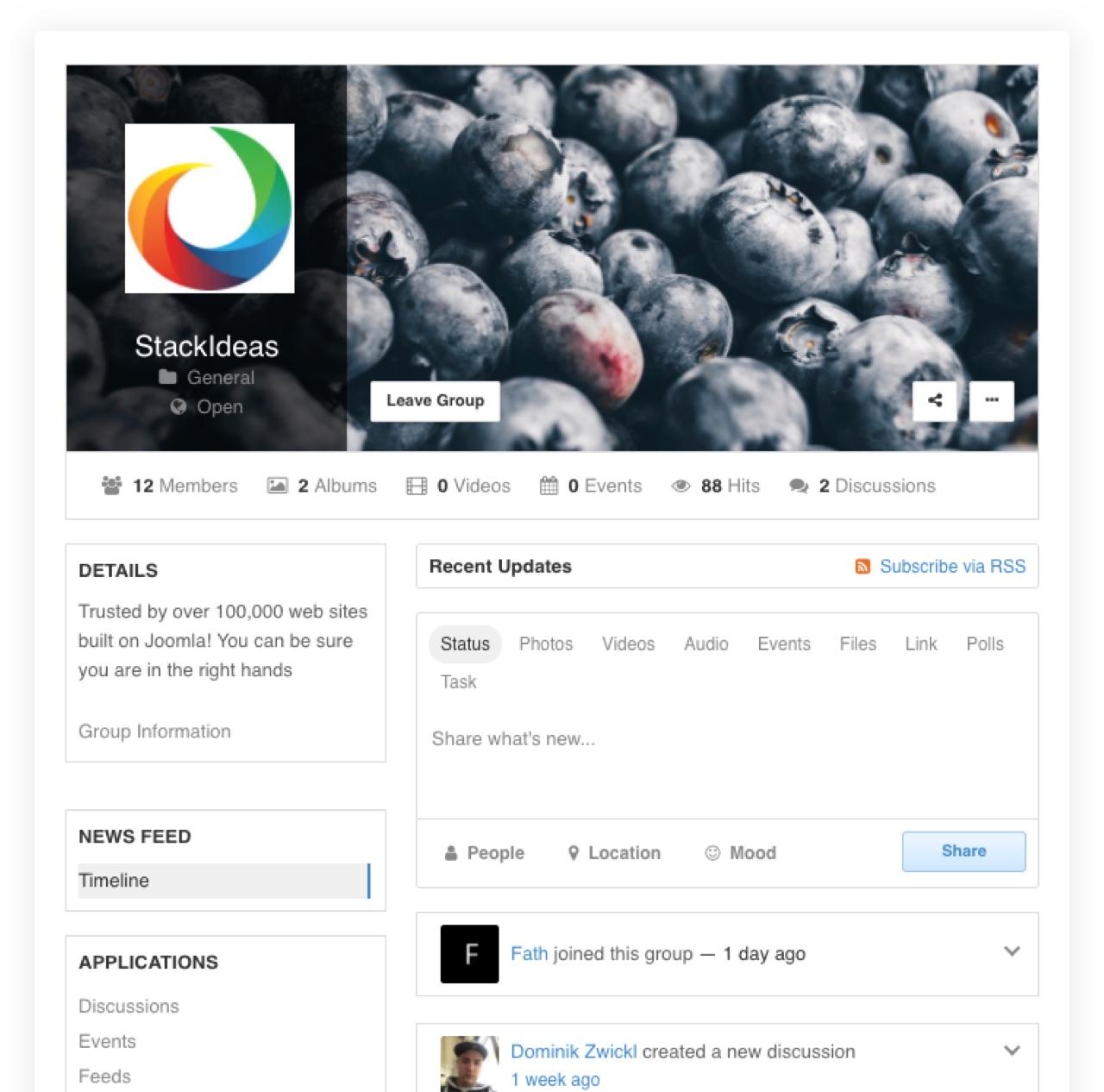 EasySocial - Groups Intro