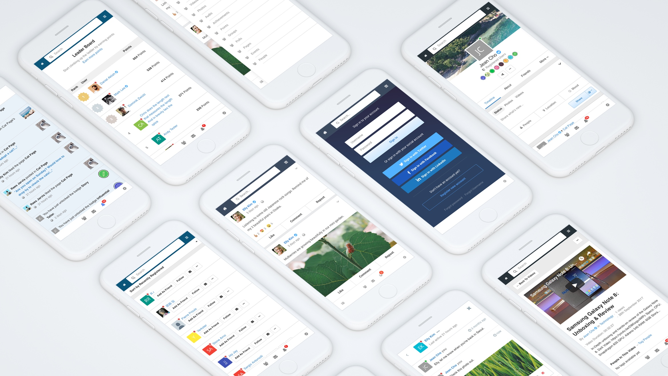 EasySocial - Mobile Web Template
