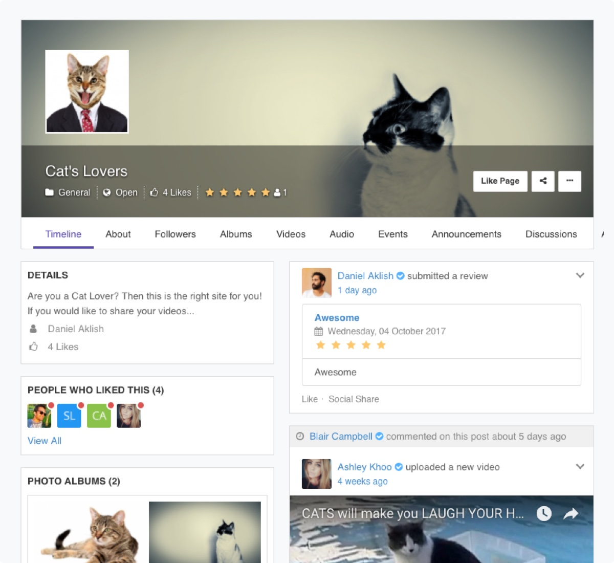 EasySocial - Pages Intro