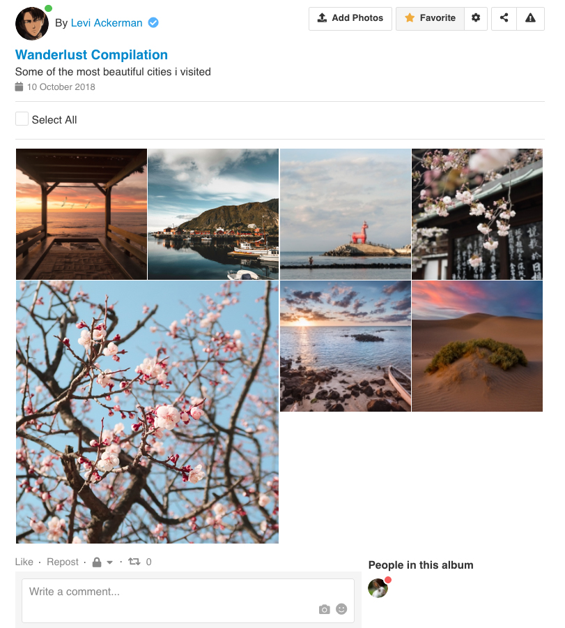 EasySocial - Photos Grid layout