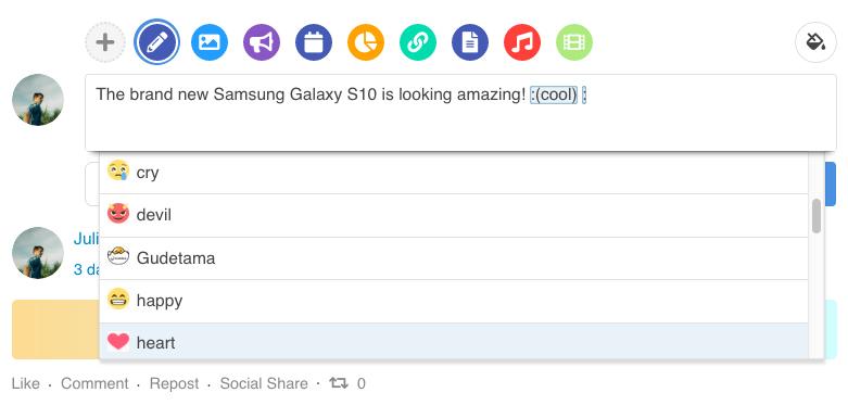 EasySocial - Emoji Browser