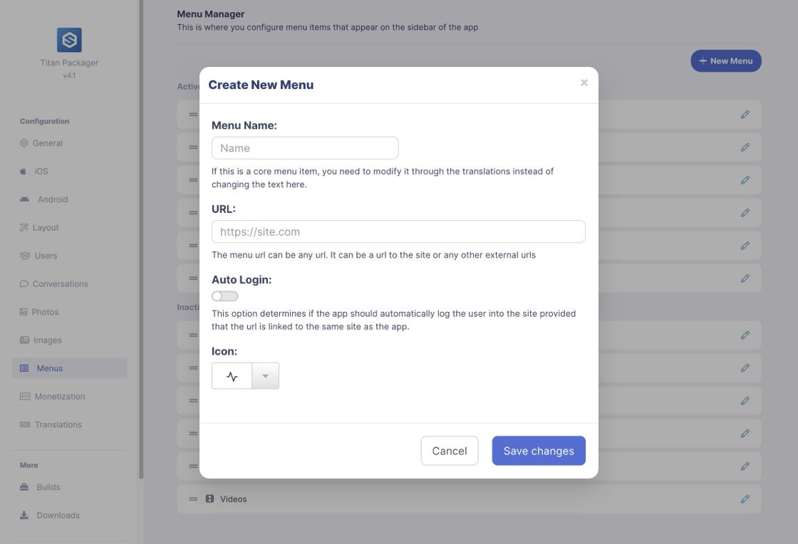 EasySocial Titan App Builder Preview 2