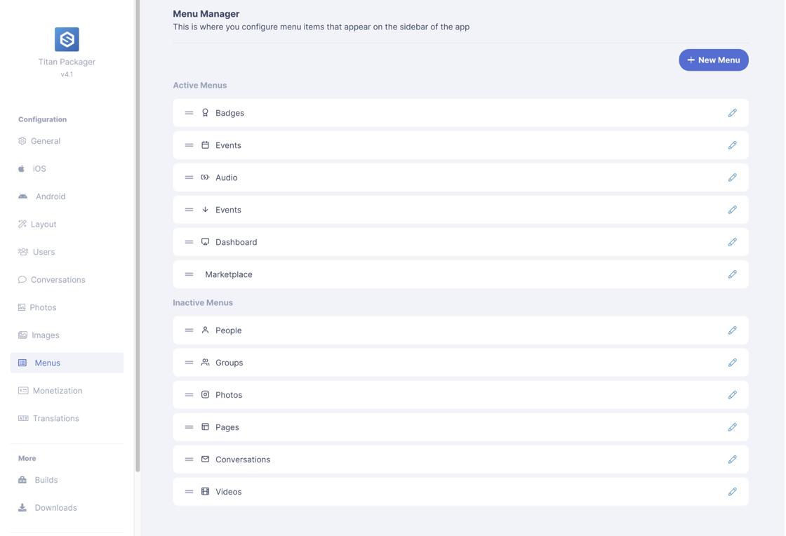 EasySocial Titan App Builder Preview 1