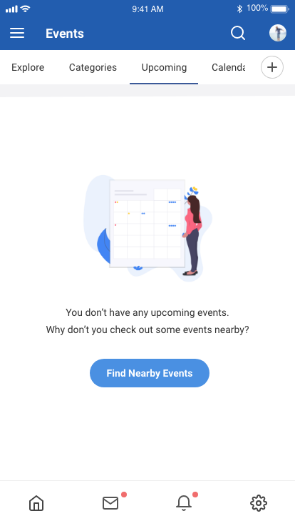 EasySocial Native Upcoming Events Screen
