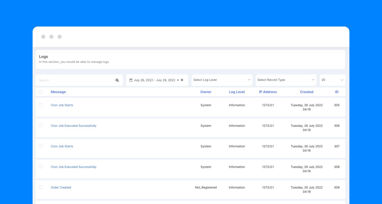 PayPlans Audit Trail Screenshot